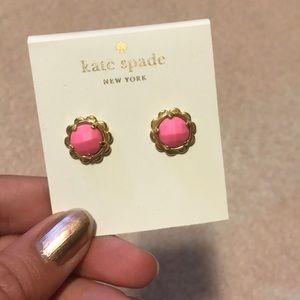Pink Kate Spade Flower Earrings